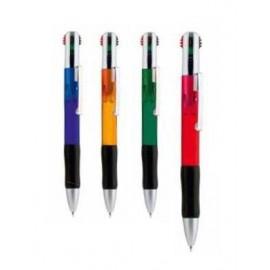 boligrafo de plastico 4 colores