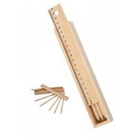 caja de lapices madera gon