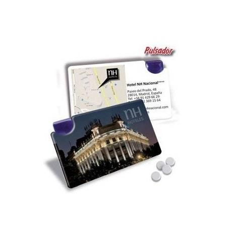 tarjeta caramelos mint personalizados