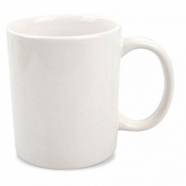 taza mug ceramica blanca