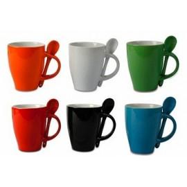 taza ceramica con cuchara spon