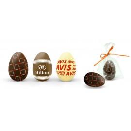chocolate con logo cuadrado