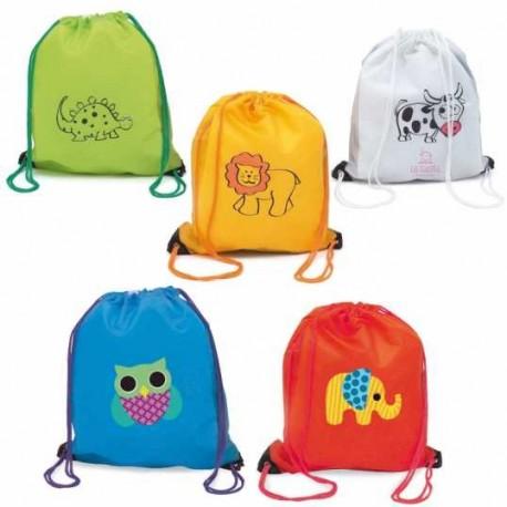 animales mochila con merienda de dibujos qWvw4aHOf