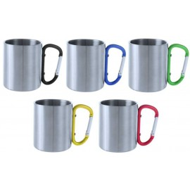 taza de acero inox mosqueton
