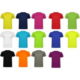 camiseta tecnica poliester raglan