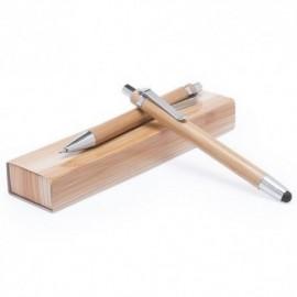 Set bolígrafo portaminas bambú