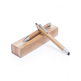 Set bolígrafo y portaminas bambú.