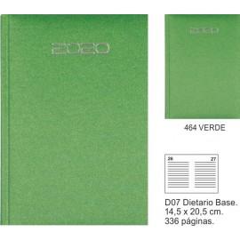 Agenda 15 x 12 dia pagina verde