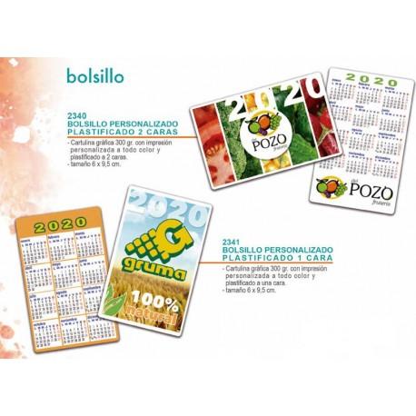 Calendario de bolsillo 2020 plastificado