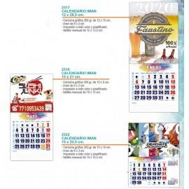 Calendario para nevera imatando