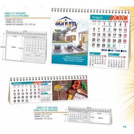 calendario para sobremesa 2020