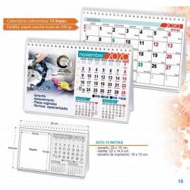 Calendario sobremesa 2020 13 hojas
