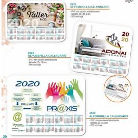 Alfombrilla calendario personalizada 2020