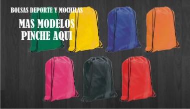 Mochilas y bolsas de deporte publicitarias como regalos de empresa y regalos promocionales.